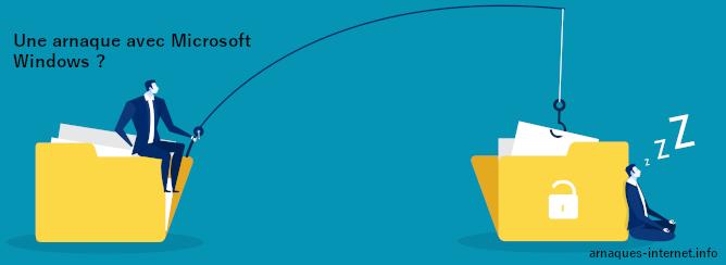 Arnaque avec Microsoft Windows