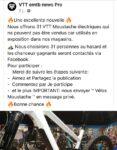 Arnaque pour gagner des vélos. VTT embt news pro.